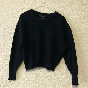 ZARA Black Knit Cropped Sweater